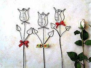 Dekorácie - ďakujem pre p. učiteľku (Červená) - 10783689_