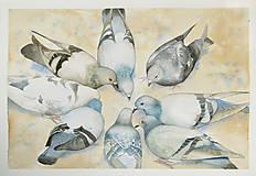 Obrazy - Kruh - originál, velký akvarel - 10783058_