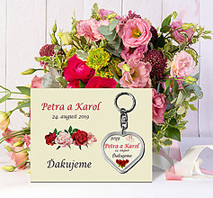 Darčeky pre svadobčanov - Svadobný prívesok s podkladom - 10784848_
