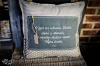 Úžitkový textil - Vankúšik k narodeninám s prianím - 10786102_
