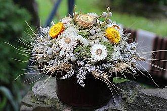 Dekorácie - Aranžmán zo sušených kvetov - 10785287_