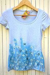 Tričká - Modrobiela záhrada - 10784912_