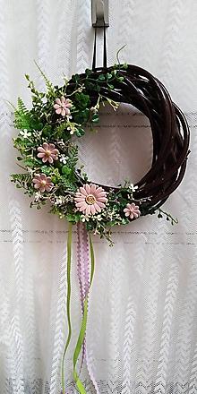 Dekorácie - Veniec exteriérový ... ružová čokoláda - 10786196_