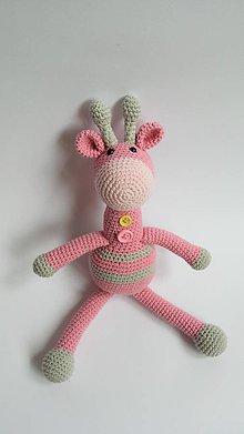 Hračky - Háčkovaná žirafa ŽiŽi (Ružová) - 10786054_