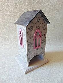 Krabičky - Drevený domček Pozvanie na čaj - 10784655_