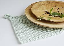 Úžitkový textil - Chňapka II EXTRA hrubá - mint - 10785780_