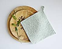 Úžitkový textil - Chňapka II EXTRA hrubá - mint - 10785781_