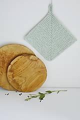 Úžitkový textil - Chňapka II EXTRA hrubá - mint - 10785784_
