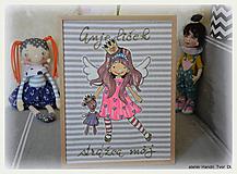 Anjelik, obrázok z textilu