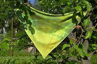 Šatky - Zelená šatka - 10786231_