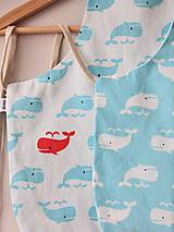 Textil - Zásterka veľrybky obojstranná - 10785232_