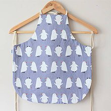 Textil - Zásterka sivé tučniaky - 10785213_