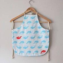 Textil - Zásterka veľrybky obojstranná - 10785231_