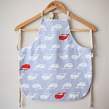 Textil - Zásterka veľrybky obojstranná - 10785250_