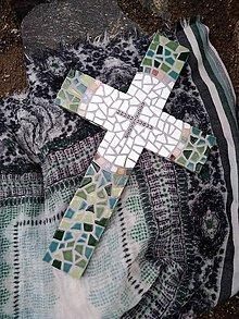 Dekorácie - Kríž nežne provensálsky - 10784540_
