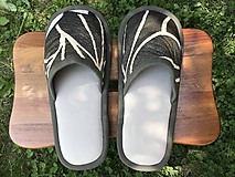 Obuv - Béžové papuče s tmavošedým vrchom - 10785729_