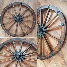 Dekorácie - Drevene koleso voza ako dekoracia 71cm - 10785556_