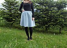 Sukne - Sukňa krátka svetlo modrá - 10784406_