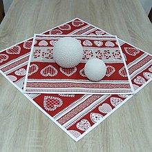 Úžitkový textil - MILENA-krása tradície červená v pásoch-obrus štvorec - 10784257_