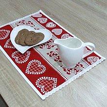 Úžitkový textil - MILENA-krása tradície červená v pásoch-prestieranie 28X40 - 10785120_