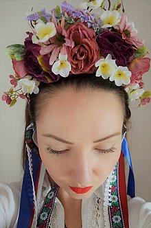 Ozdoby do vlasov - Parta vonia fialovo - 10784210_