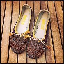Obuv - Balerínky MEHERA handmade sandále - 10784876_
