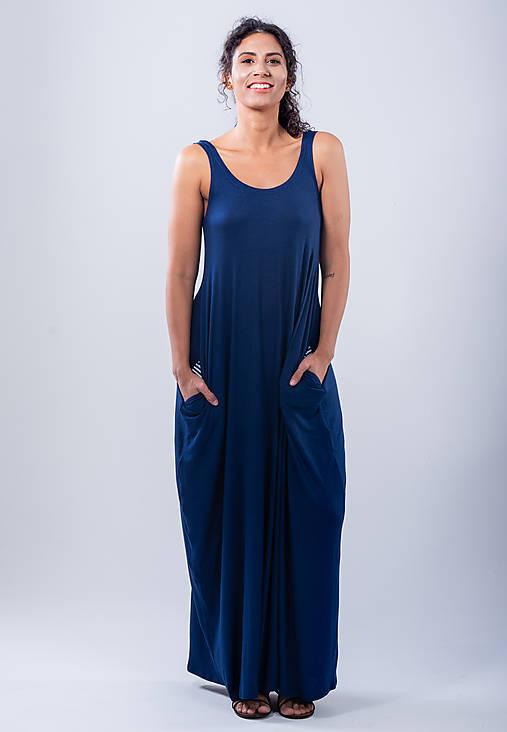 Šaty - dlhé šaty na ramienka - 10784542_
