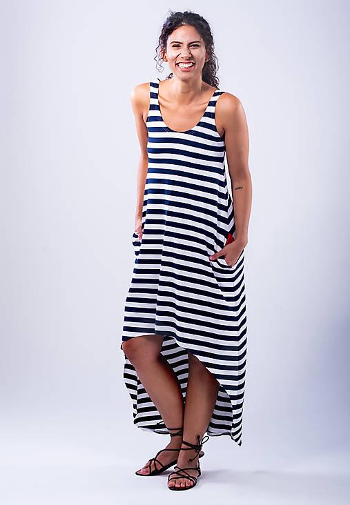 Šaty - dlhé šaty so srdiečkom - 10785716_