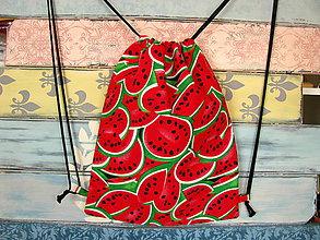 Batohy - Ruksak, batůžek, vak - Červené melouny - 10785011_