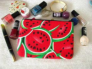 Taštičky - Taštička na mobil - červené melouny - 10785026_
