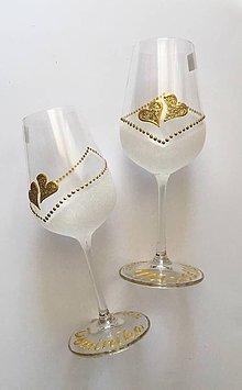 Drobnosti - Svadobné poháre - 10784374_