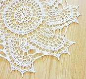 Úžitkový textil - Okrúhla dečka s oblúčikmi, biela - 10785381_