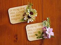 Magnetky - Kvetinová magnetka s textom pre učiteľky - 10784642_