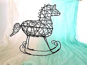 Socha - Hojdací koník * 20 cm - 10784229_