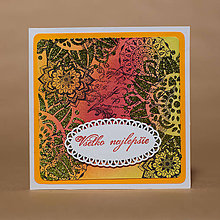 Papiernictvo - P182 - Pozdrav - Ornamentálne mandaly - 10788470_