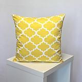 Úžitkový textil - vankúš Maroko žlté (3veľkosti) - 10786367_