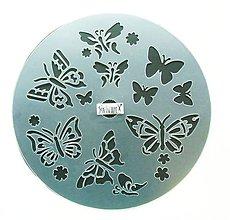 Pomôcky/Nástroje - Plastová šablóna, 25 cm, motýľ, motýle, motýliky, butterfly - 10787826_
