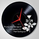 Hodiny - Depeche Mode / white ROSE - vinylové hodiny (vinyl clocks) - 10787094_