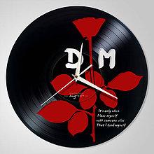 Hodiny - Depeche Mode / red ROSE - vinylové hodiny (vinyl clocks) - 10787091_