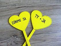 Tabuľky - ceduľky do ruky ĽÚBIME SA - 10787044_