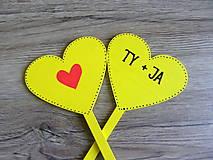 Tabuľky - ceduľky do ruky ĽÚBIME SA - 10787046_