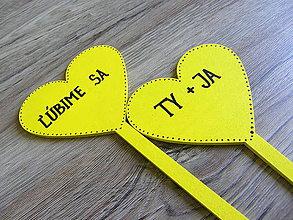 Tabuľky - ceduľky do ruky ĽÚBIME SA - 10787052_