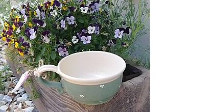 Nádoby - Keramická šálka na polievku,čaj - vintage - 10787612_