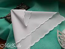 Pierka - svadobná ozdobná vreckovka II. - 10788226_