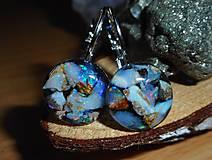 Náušnice - opalas flutuante-for happy summer - 10788760_
