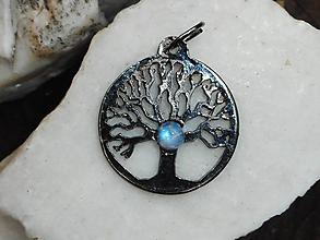 Náhrdelníky - tree for happy with moon,mesačný kameň - 10788826_