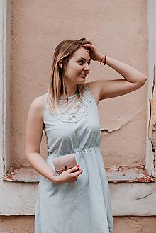 Peňaženky - Korková peňaženka S púdrovo ružová - 10786833_