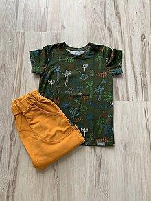 Detské oblečenie - Tričko olivové - 10787201_