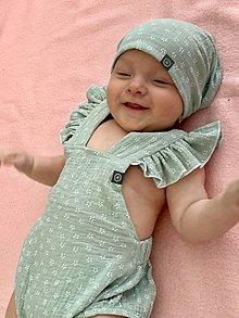 Detské oblečenie - Opaľovačky z ľahučkej gázoviny  (Zelená) - 10787380_