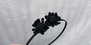 Ozdoby do vlasov - Čelenka ... kvety čierne - 10788892_